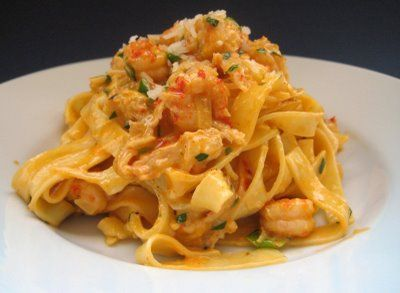 Crawfish And Cream Over Pasta! Yum | Food I want to eat | Pinterest