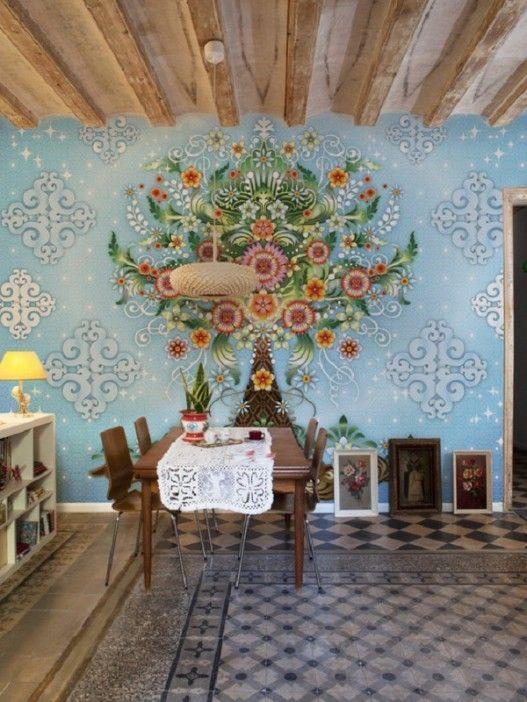 Setting Your Bohemian Dining Room Murals Abode Asthetics Pinterest