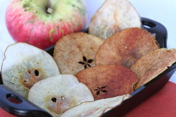 Recipe: Sugared Apple and Pear Chips. Easy, right?? Put a pan in the ...