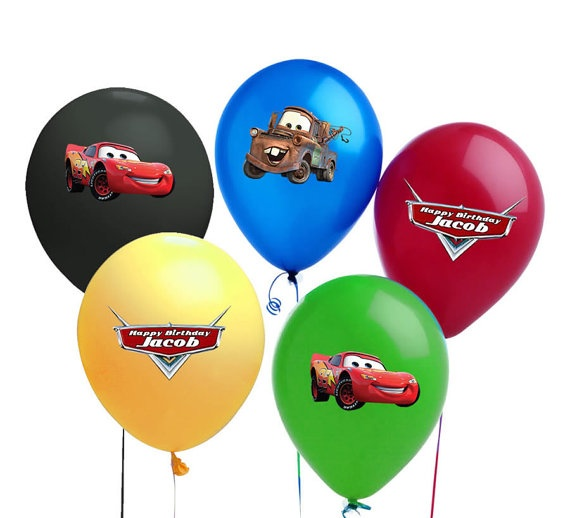 CARS 2 Balloon Stickers or Gift Tag Stickers For Cars