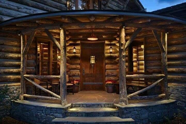 Great Porch Log Cabins Pinterest