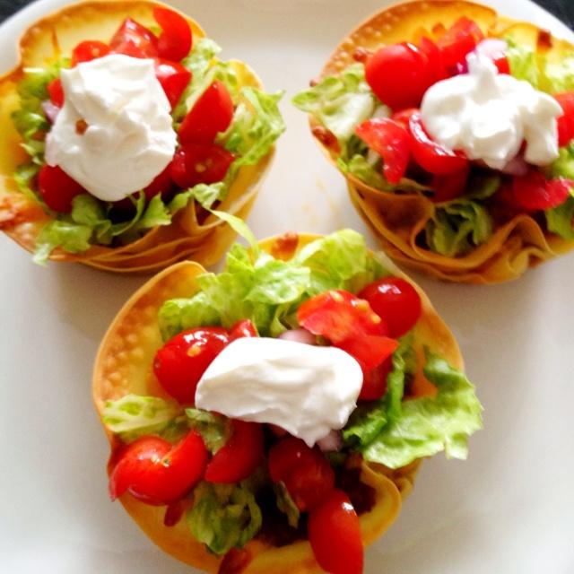 Taco cupcakes | YUM! | Pinterest