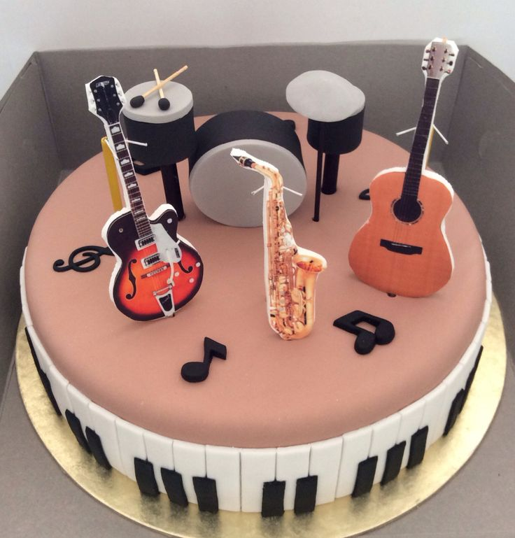 Cake Decorating Ideas Musician : Music cake Music Theme Party Ideas and Decorations ...