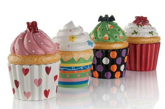 Cupcake Canisters HOME Cupcake Decor Kitchen Ideas