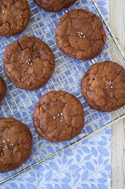 Salted Double Chocolate Chunk Cookies | Chocolate | Pinterest