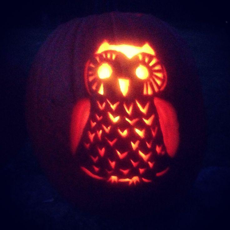 Owl pumpkin carving bootiful halloween ideas pinterest