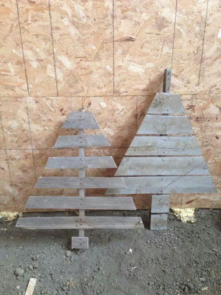 pallet christmas trees holly jolly pinterest