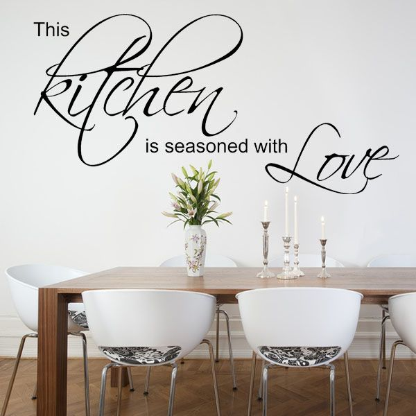 this kitchen is seasoned with love wall sticker decals kitchen words wall sticker quote love kitchen home wall