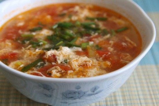 tomato and egg drop soup   food   Pinterest