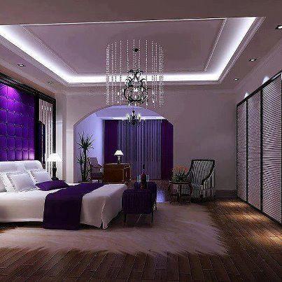purple master bedroom