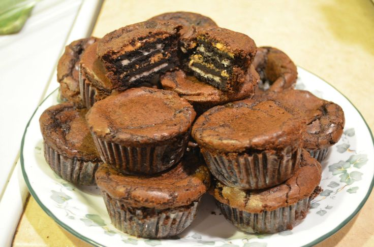 Oreo Peanut Butter Brownie cakes