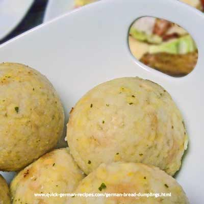 German Bread Dumplings from Bavaria - http://www.quick-german-recipes ...