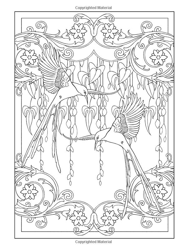 Creative Colouring Patterns : Creative haven art nouveau animal designs coloring book