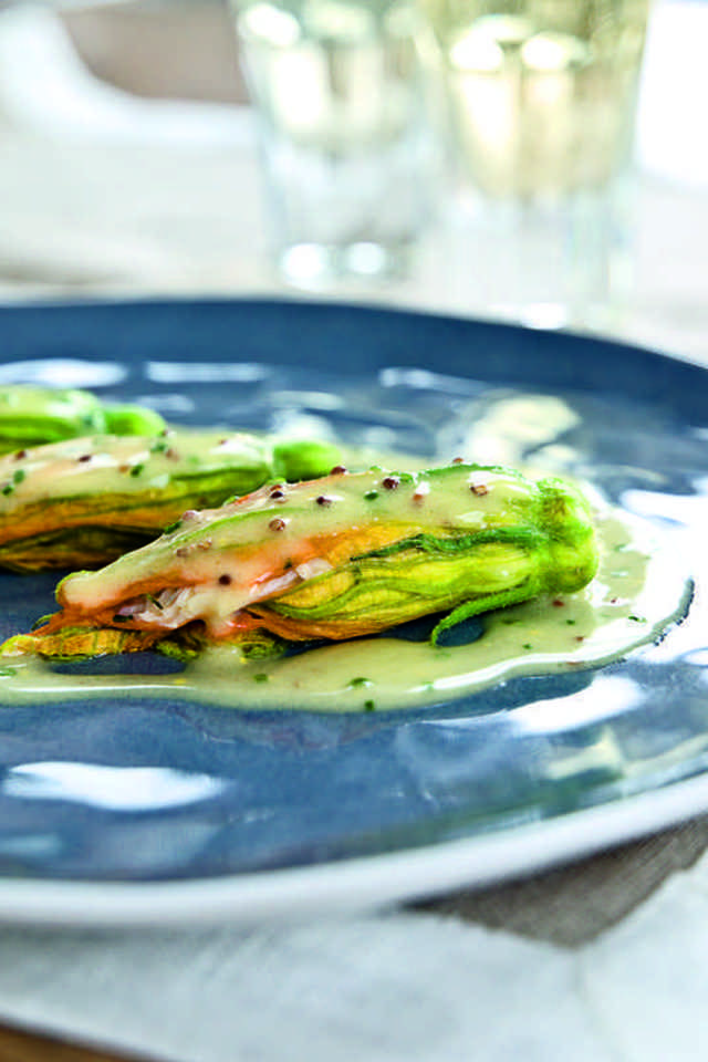 Crab-Stuffed Zucchini Flowers | Food and Libations | Pinterest