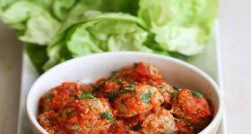 italian turkey quinoa amp zucchini meatballs recipe in lettuce wraps
