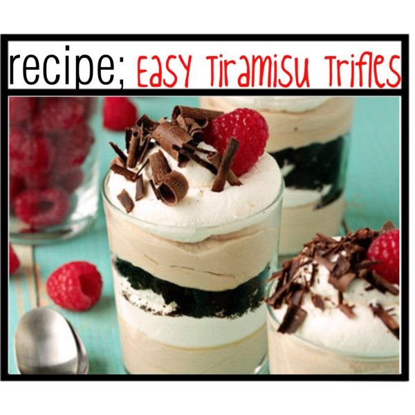 Easy Tiramisu Trifles;♥ | Dessert | Pinterest