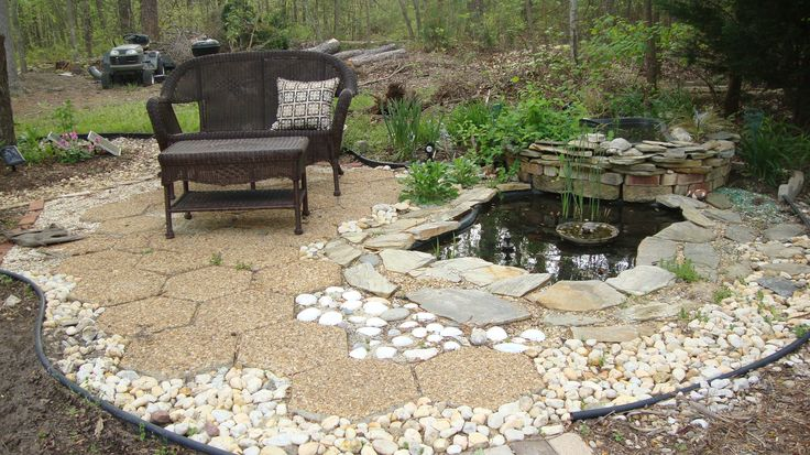 Backyard water feature how to build a pond for Build a pond in your backyard