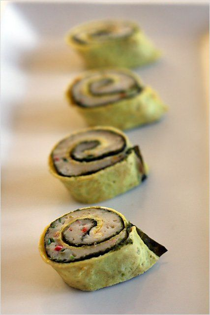 Steamed Fish Rolls Recipe: The dipping sauce completed the dish with ...