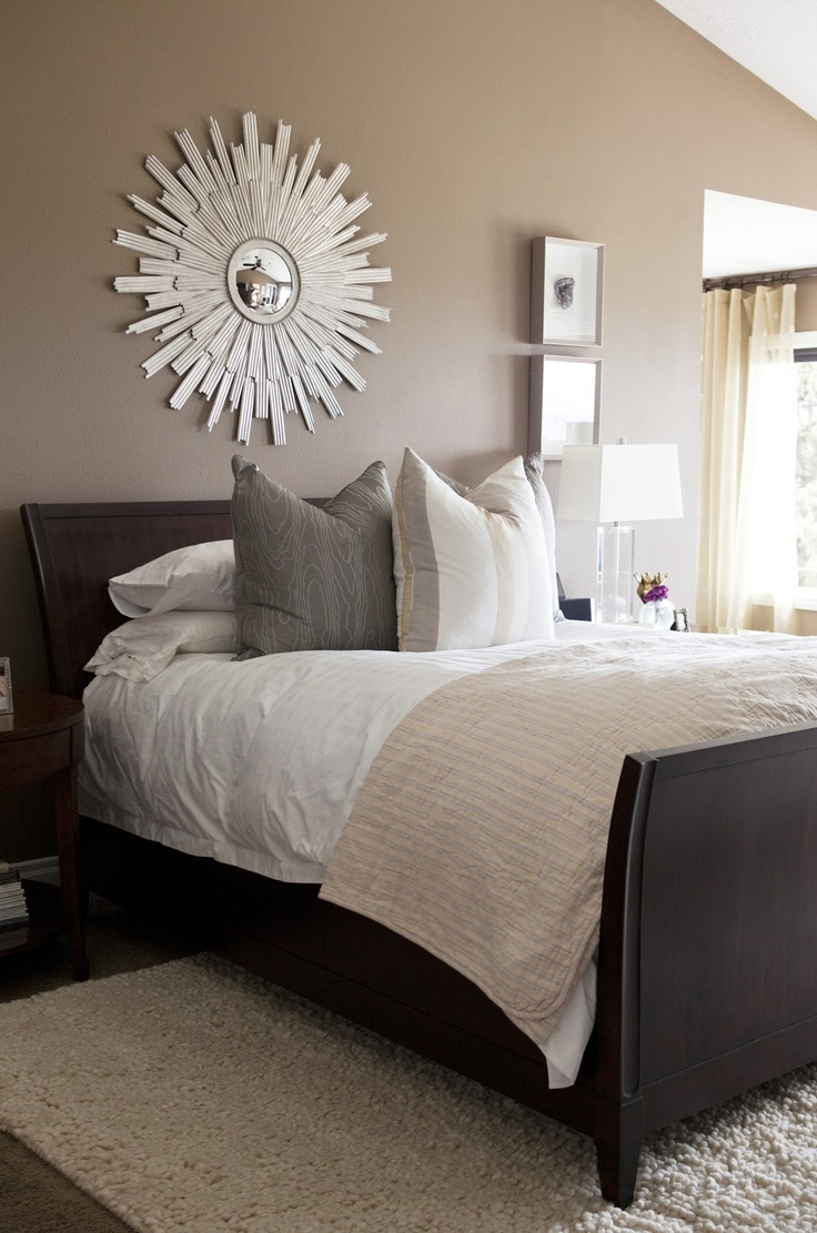 Mirror over bed waterside pinterest for Hang bed from wall