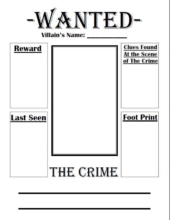 Old Fashioned Free Wanted Poster Template For Kids Image - Resume ...