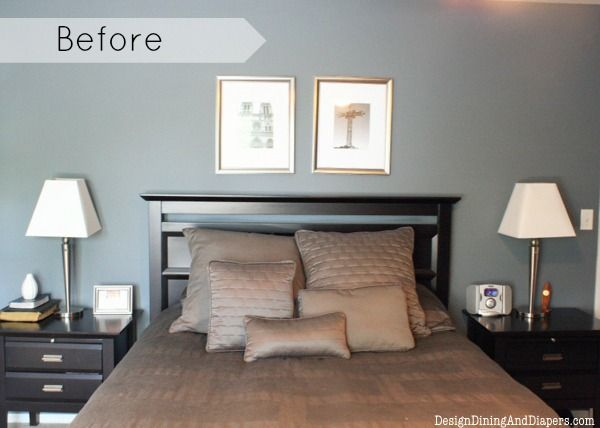 Master bedroom makeover on a budget for Bedroom makeover inspiration