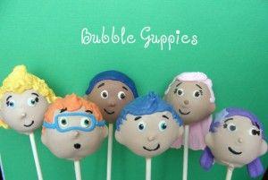 Bubble Guppies cake pops, P's favorite show!!!