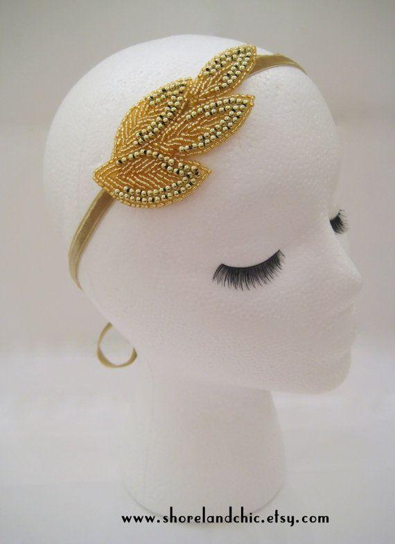 gold leaf goddess headband