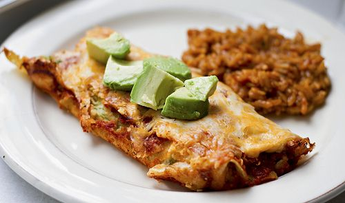 Cheesy Zucchini Enchiladas, a nice little twist to it.