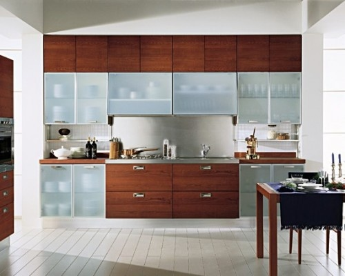 Frosted Glass Kitchen Cabinets Design HOME Kitchen Dining Areas P