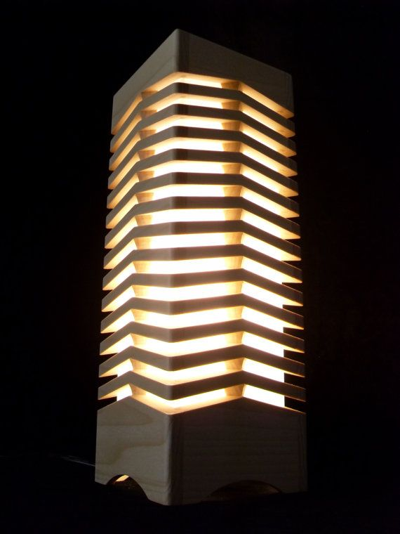 Table lamp starlight wooden lamp handmade - Hand made lamps ...