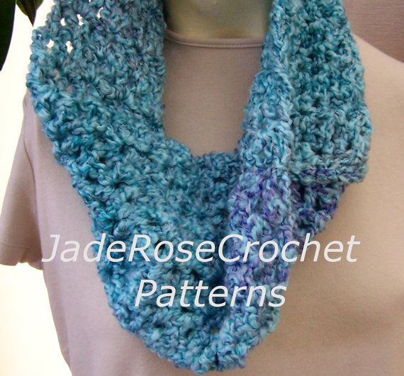 Quick Crochet Cowl Free Pattern : Crochet Pattern Quick and Easy Cowl Infinity Scarf with ...