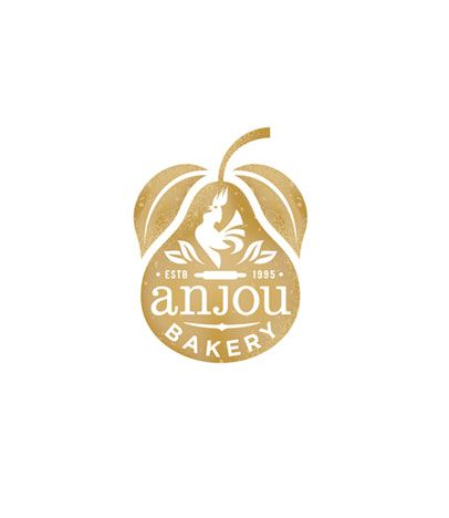 anjou bakery logo with a soft aesthetic