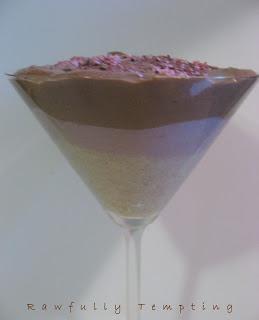 Chocolate-Raspberry-Vanilla Pudding Parfait (Raw Vegan)