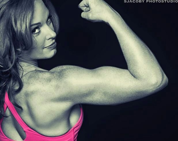 I'm on my way to having arms like this. #p90x3  halfway  there!!!