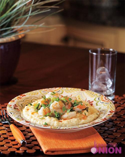 Creamy Polenta w Shrimp, Roasted Poblanos & White Cheddar #Recipe, # ...