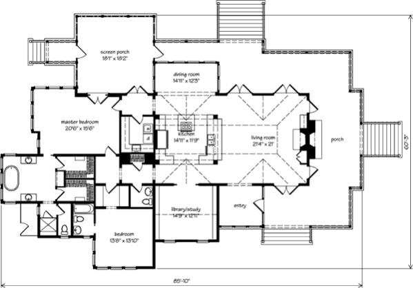 Southern living plan 1375 tidal haven house pinterest - Floor plans southern living set ...