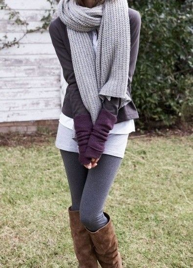 Leggings + layers.