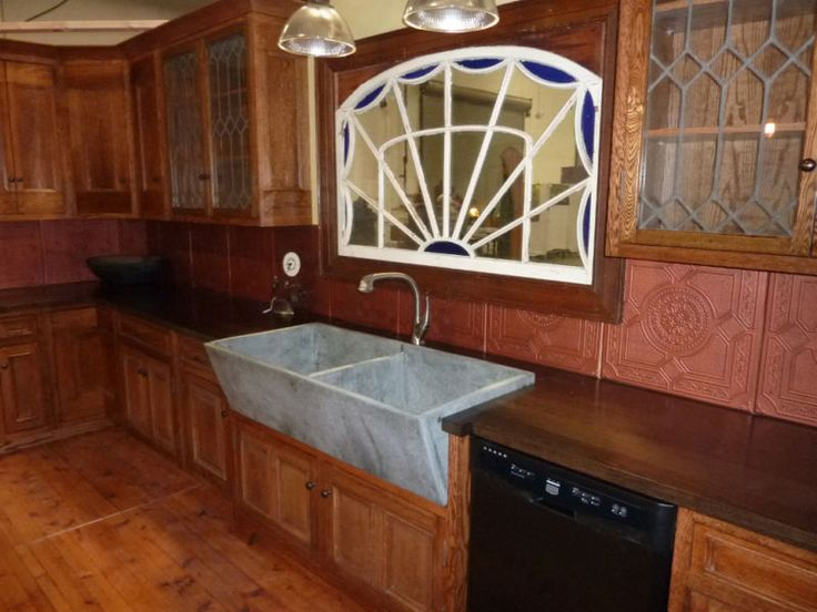 Old concrete laundry sink used in a kitchen. Interesting idea. These ...