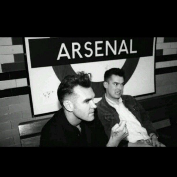 Morrissey & Boz Boorer, at Arsenal Station