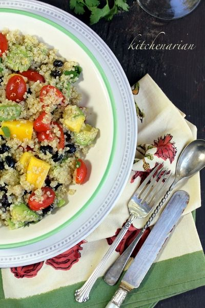 Quinoa Salad with Black Beans, Avocado & Mango — The Kitchenarian