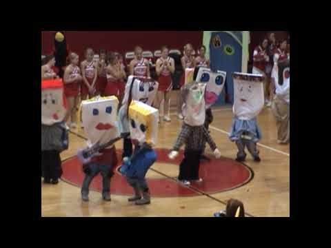 Chs pillow people pep rally skit cheer ideas pinterest