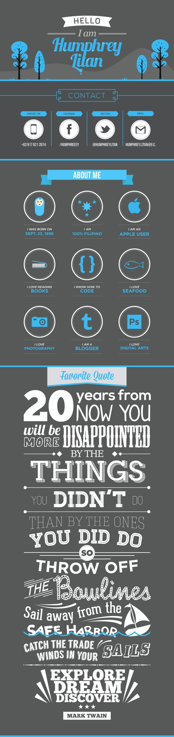 Infographic and Typography Resume.