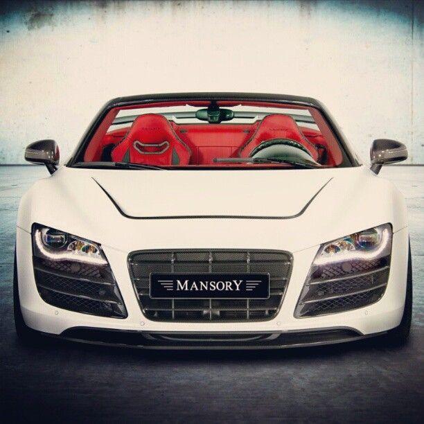 Audi R8: Cool Mansory White Audi R8