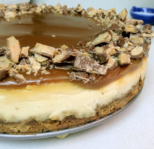 Toffee Crunch Caramel Cheesecake Recipe — Dishmaps
