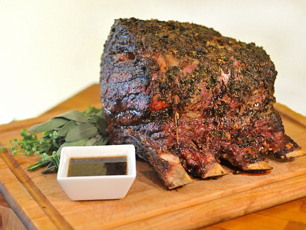 Grill-Roasted Herb-Crusted Standing Rib Roast | Recipe