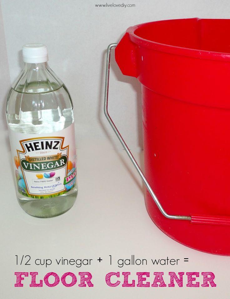 Vinegar For Floors Cleaning Do It Pinterest
