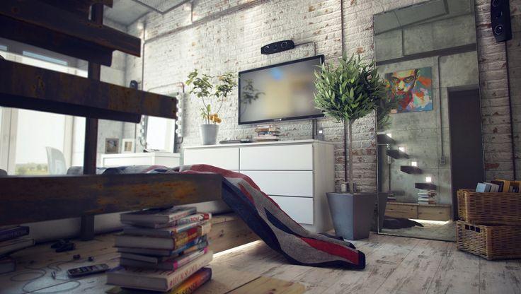 Loft interior design.