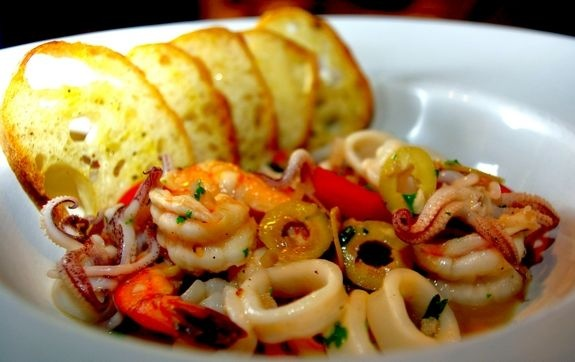 of Appleton Shrimp, calamari, olives, capers, garlic, and shallots ...