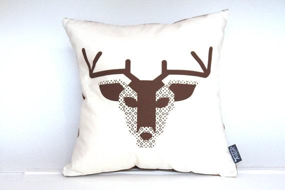 Organic Deer Pillow Cover   $32.00
