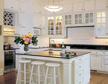 White Kitchen High Ceilings Kitchen Ideas Pinterest